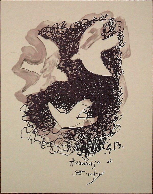 21: Georges BRAQUE, orig. lithograph in colors of 1960