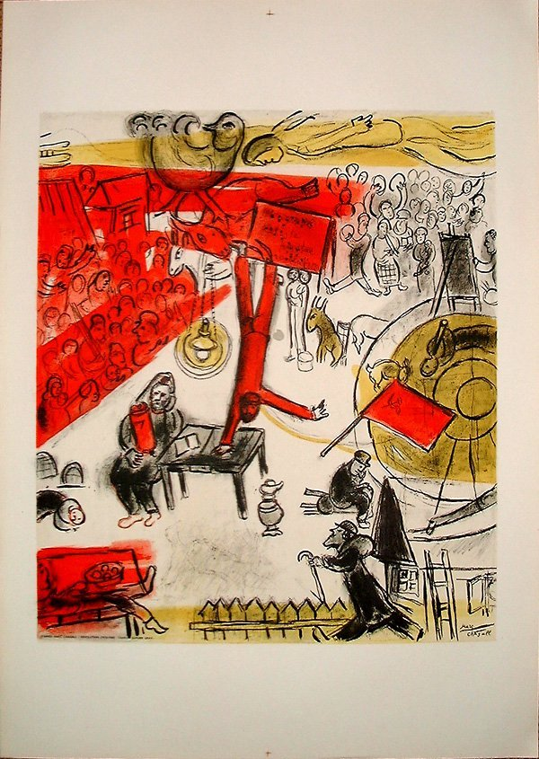 99: Marc CHAGALL, orig. lithograph in colors of 1963