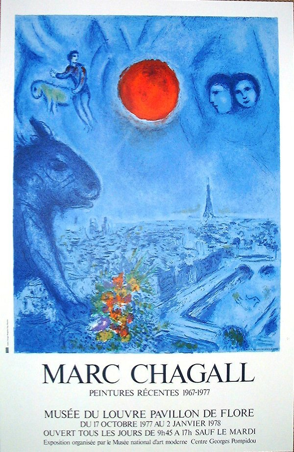 101: Marc CHAGALL, orig. lithograph in colors of 1977