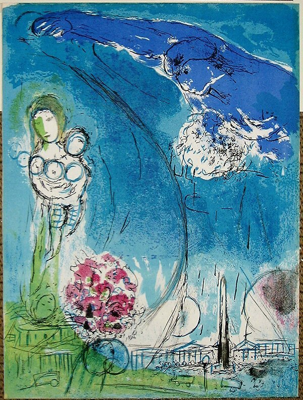 104: Marc CHAGALL, orig. lithograph in colors of 1952