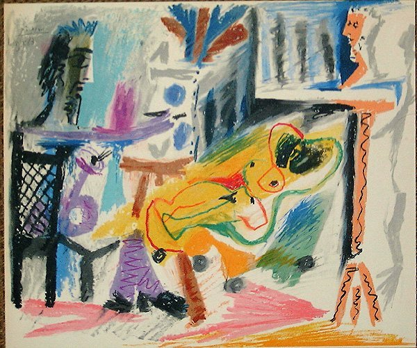 501: Pablo PICASSO, orig. lithograph in colors
