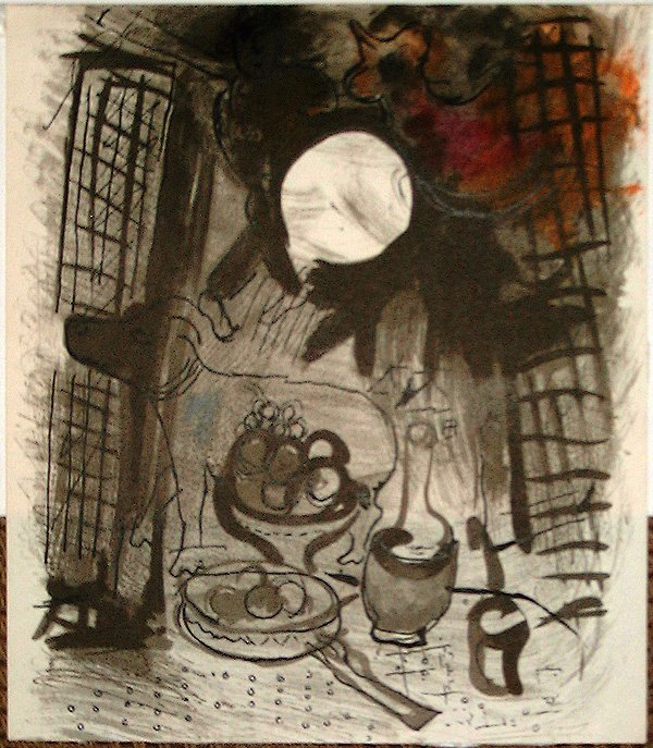 502: Marc CHAGALL, orig. lithograph in colors of 1957