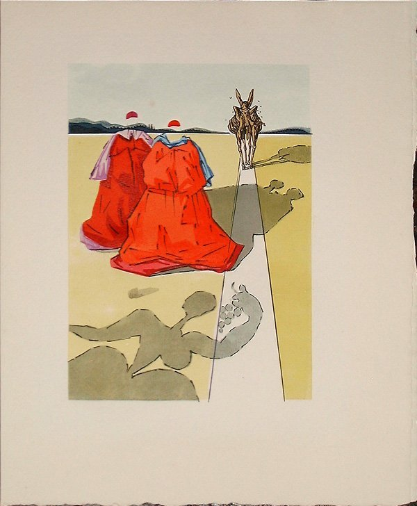 503: Salvador DALI, orig. woodcut in colors of 1959
