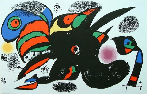 504: Joan MIRO, orig. lithograph in colors of 1976