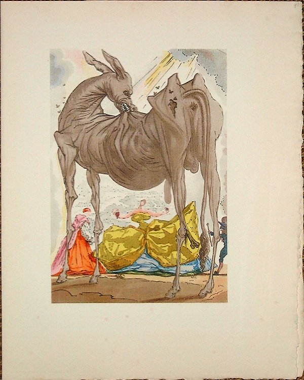 506: Salvador DALI, orig. woodcut in colors of 1959