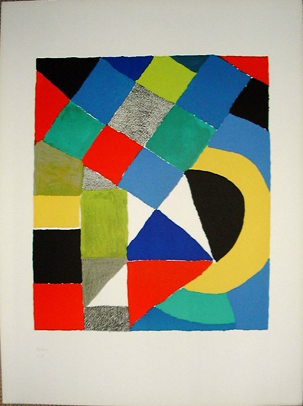 508: Sonia DELAUNAY-TERK, orig. lithograph in colors