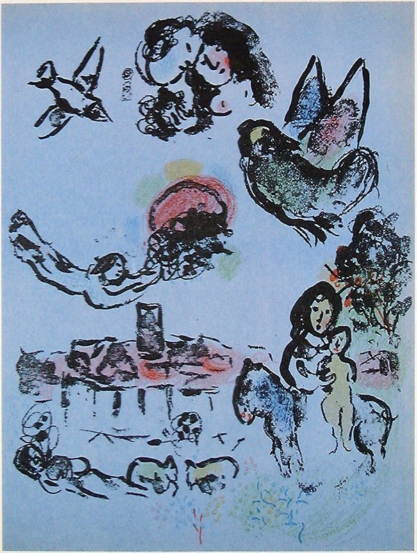 509: Marc CHAGALL, orig. lithograph in colors of 1963