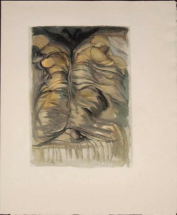 511: Salvador DALI, orig. woodcut in colors of 1959