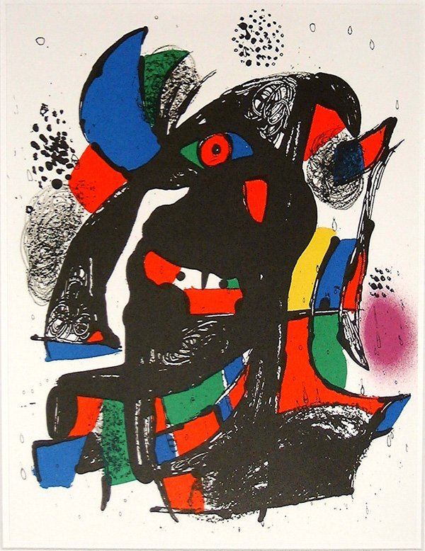 512: Joan MIRO, orig. lithograph in colors of 1982