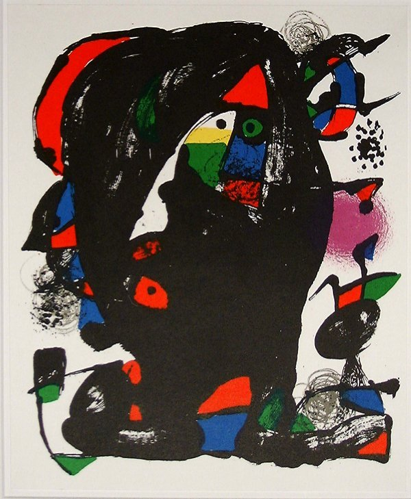 513: Joan MIRO, orig. lithograph in colors of 1982
