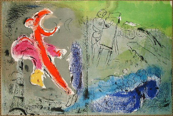 514: Marc CHAGALL, orig. lithograph in colors of 1952