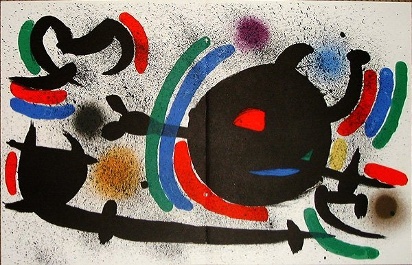 515: Joan MIRO, orig. lithograph in colors of 1972