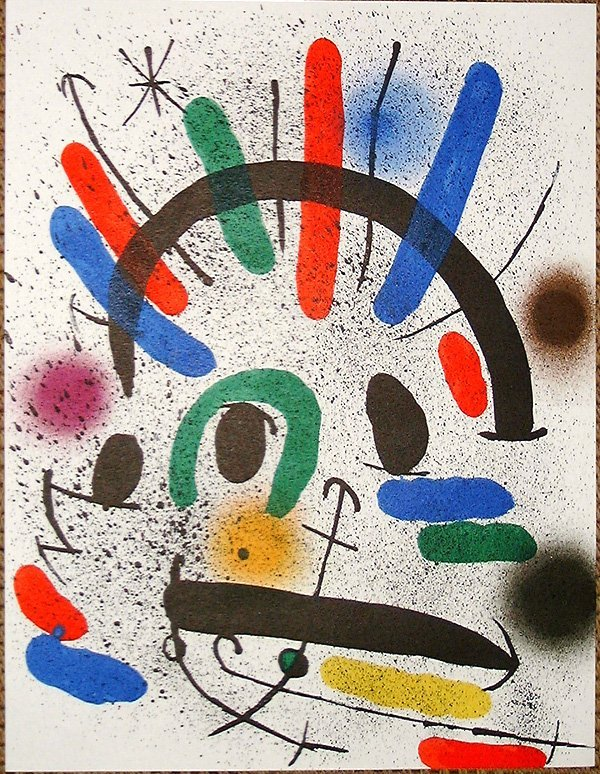 517: Joan MIRO, orig. lithograph in colors of 1972