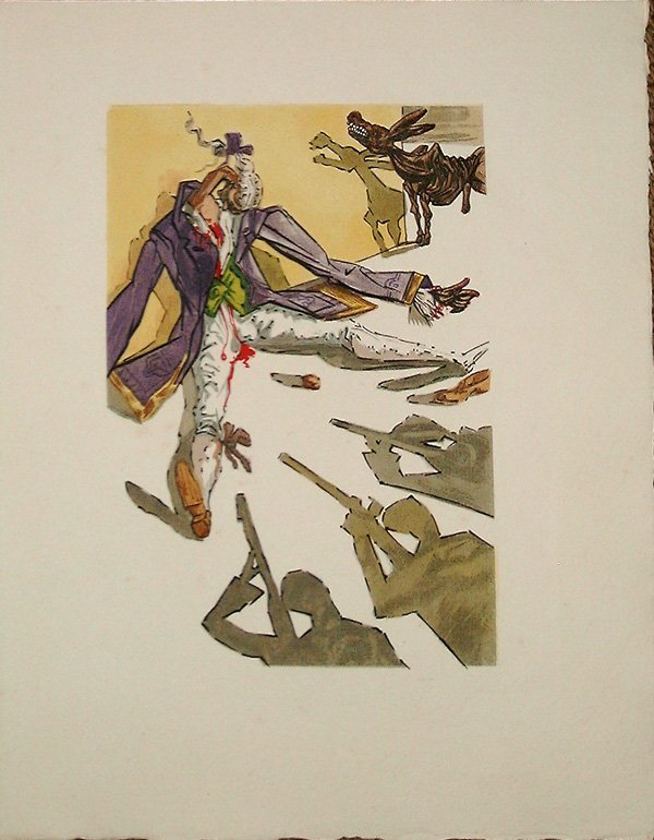 518: Salvador DALI, orig. woodcut in colors of 1959
