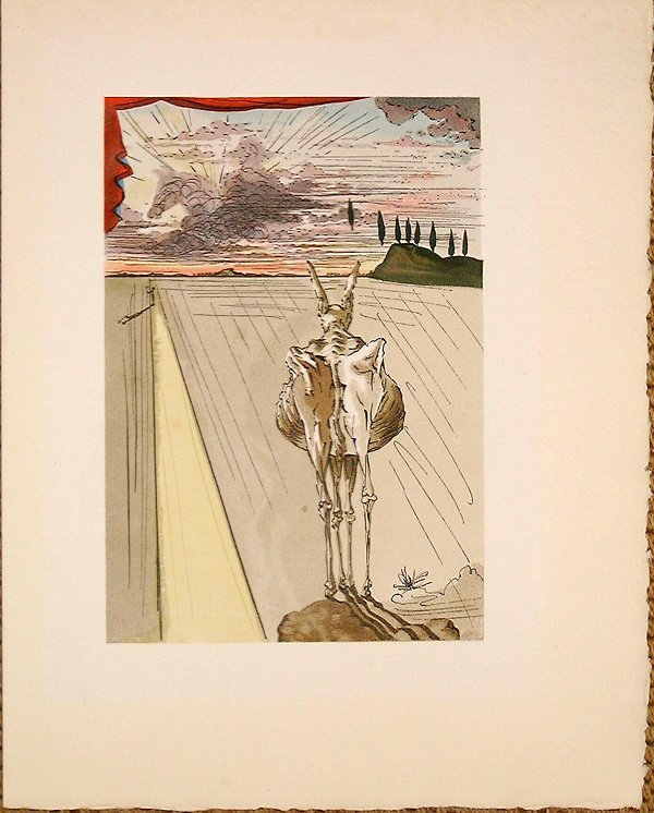 519: Salvador DALI, orig. woodcut in colors of 1959