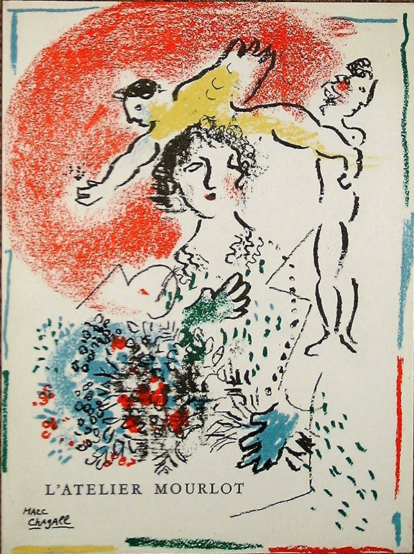 521: Marc CHAGALL orig. lithograph in colors of 1964/65