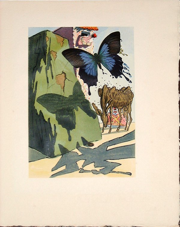 525: Salvador DALI, orig. woodcut in colors of 1959