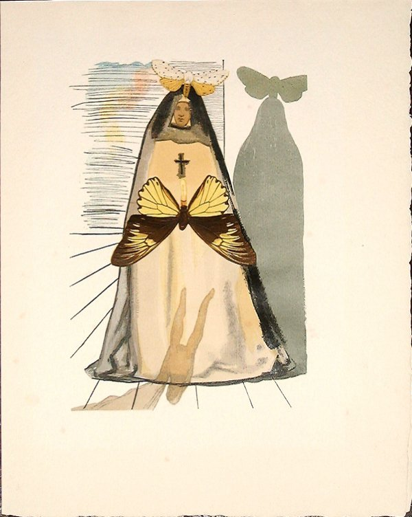 527: Salvador DALI, orig. woodcut in colors of 1959