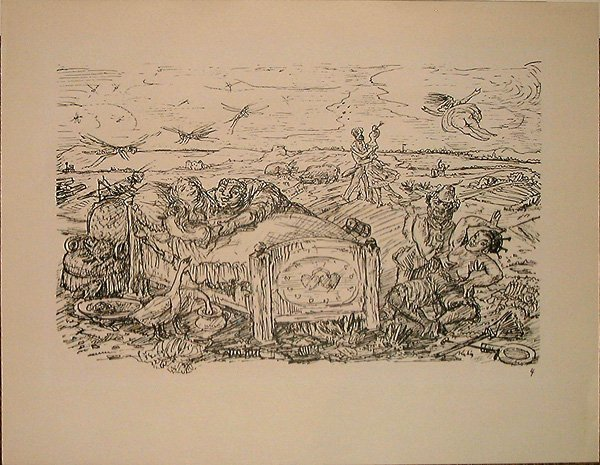 755: Alfred KUBIN, orig. lithograph of 1925