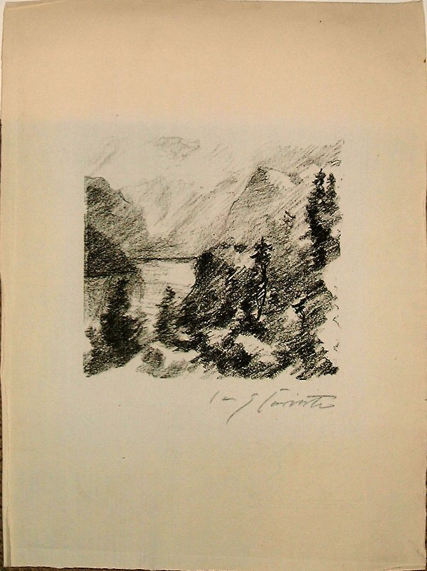 761: Lovis CORINTH, orig. lithograph, handsigned, 1924