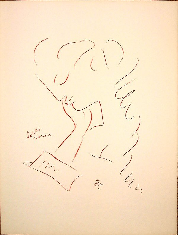 816: Jean COCTEAU, orig. lithograph in colors