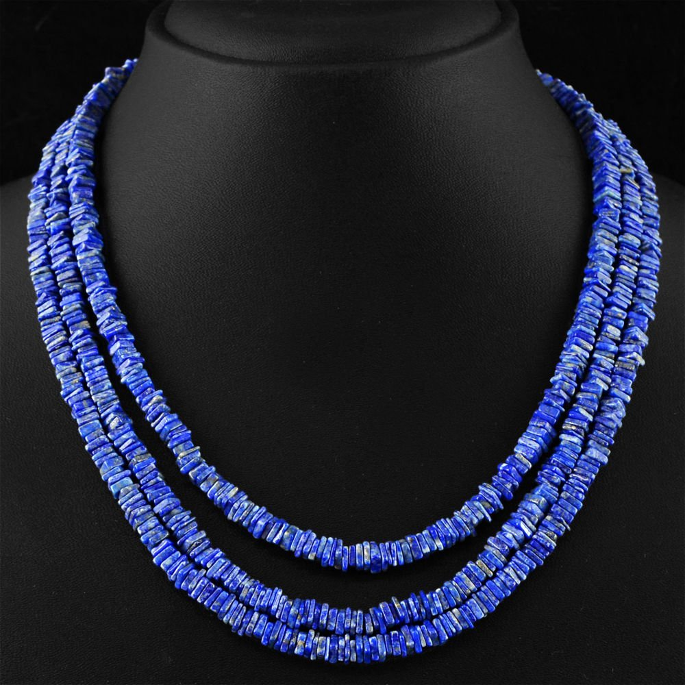 Blue Lapis Lazuli Untreated Beads Necklace