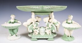 Minton 3-piece 19th-C Porcelain Table Service