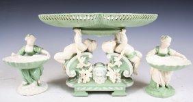 Minton 3-piece 19th-C Porcelain Table Service