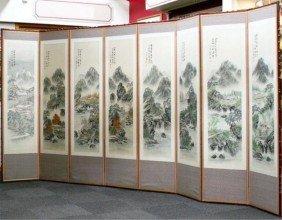 4 Seasons Korean Screen Painting By Kim Soo Man