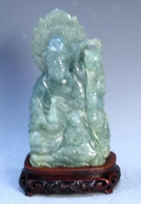 18: Chinese Carved Jade Guanyin