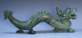 21: Chinese Carved Jade Dragon