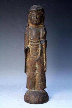 118: Chinese Iron Buddhist Figure Pre-1600