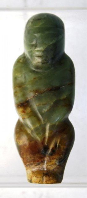 Chinese Jade Neolithic Carving Figure Pendant