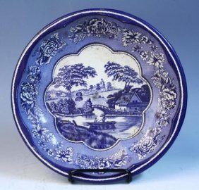 Daher Decorated Ware Tin Blue & White Bowl