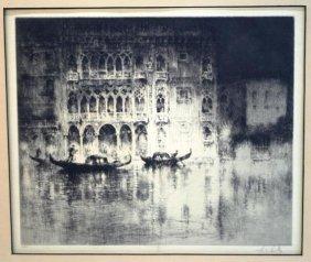 Sydney Litten, Ca' D'Oro, Venice Etching 1922