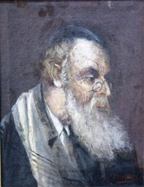 An Oza Jew, Painting Signed L. Maly