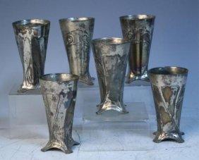 Set Of 6 Art Nouveau WMF Cups