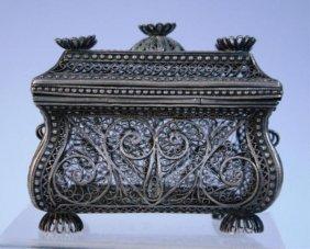 Filigree Box With Swirling Design