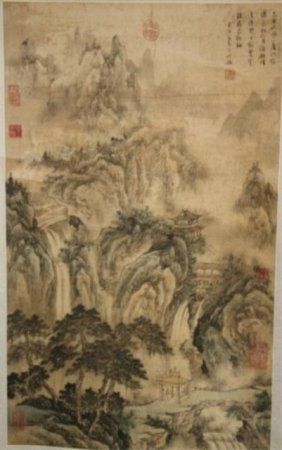Chinese Scroll Painting Attr. Wang See-Min