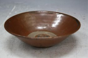 Chinese Brown Glazed Pottery Bowl Yuan Dyn.