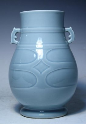 Chinese Blue Porcelain Vase