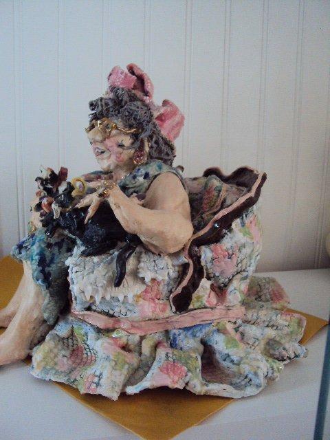 """D.M.Z. Coyle """"Abigail"""" Sculpture - 4"""
