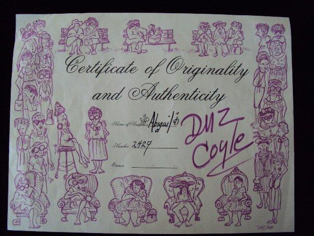 """D.M.Z. Coyle """"Abigail"""" Sculpture - 7"""