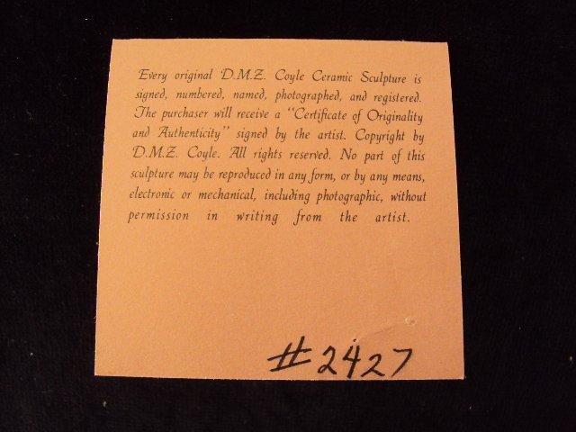 """D.M.Z. Coyle """"Abigail"""" Sculpture - 8"""
