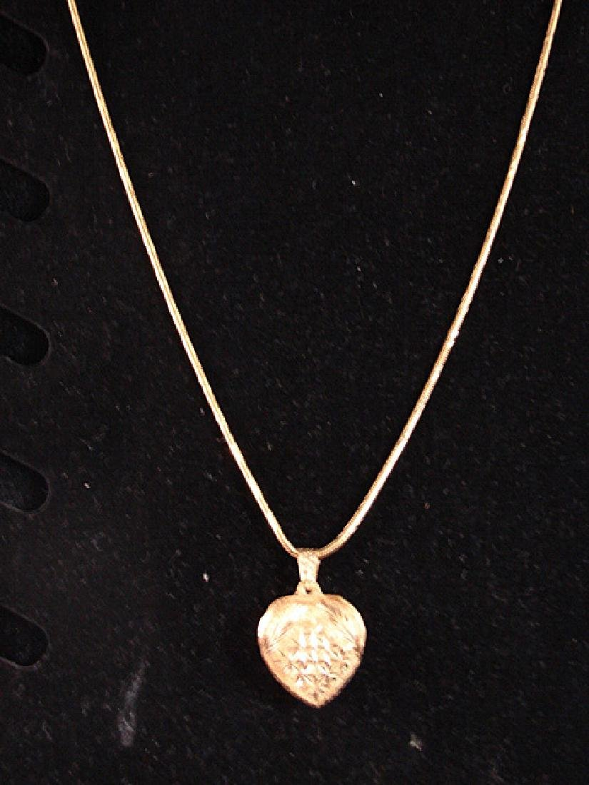 21K Yellow Gold Heart Necklace