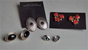 Three Pair Native American Earrings