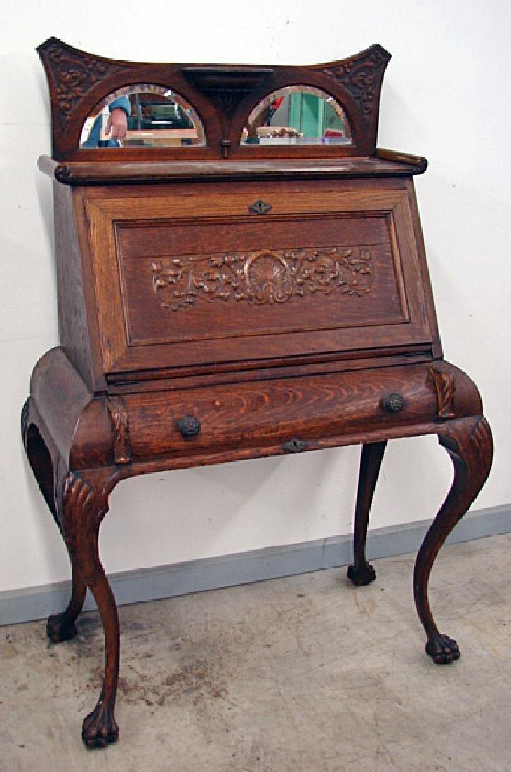 Excellent Oak Writing Desk