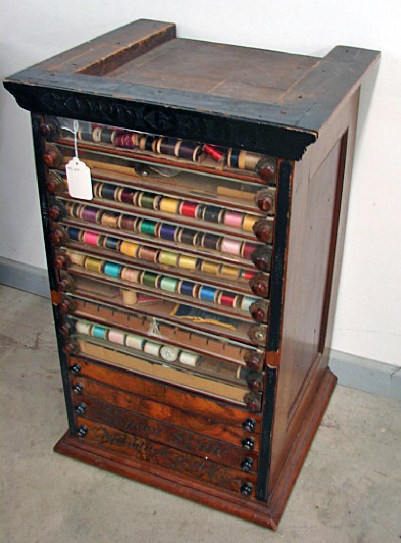 Fourteen Drawer Spool Cabinet