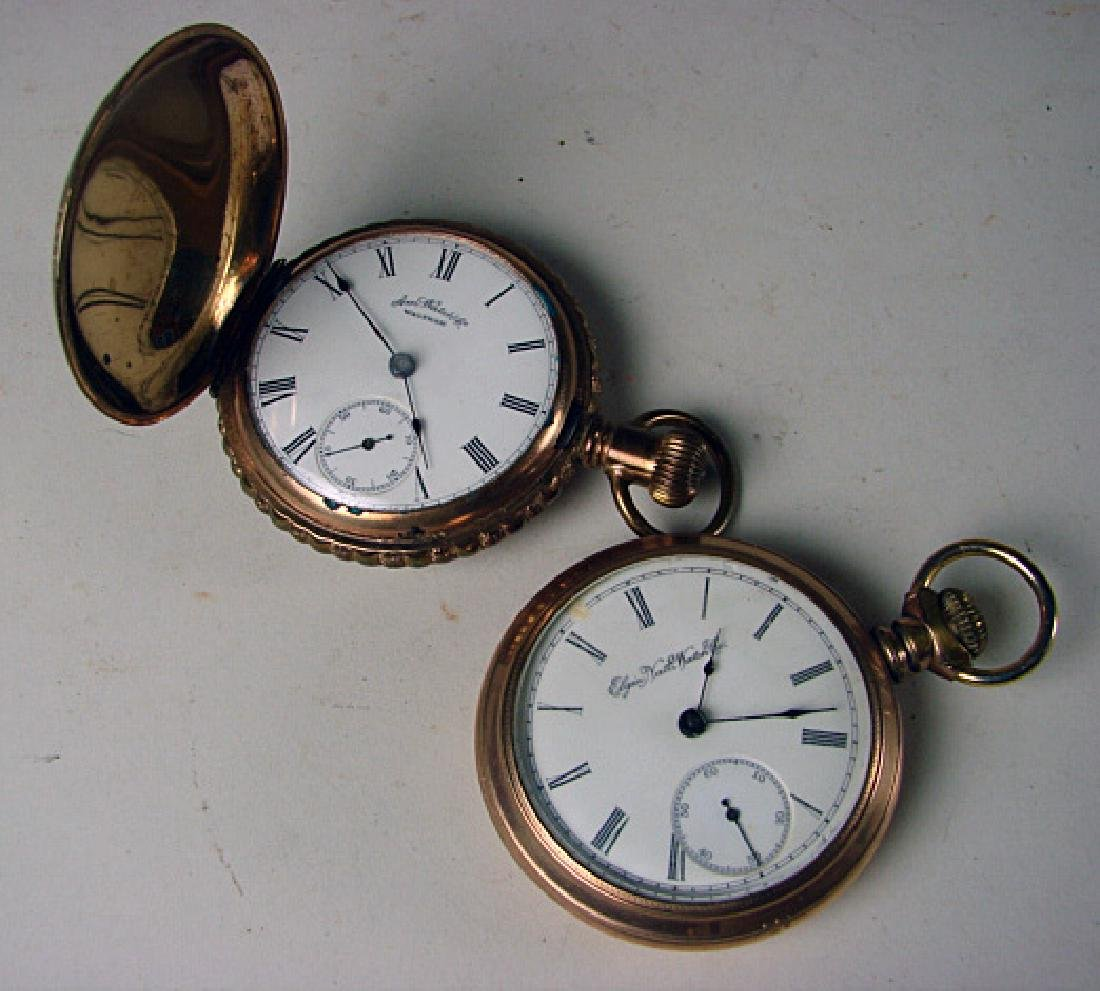 Two 15 Jewel Hunt Case Pocket Watches