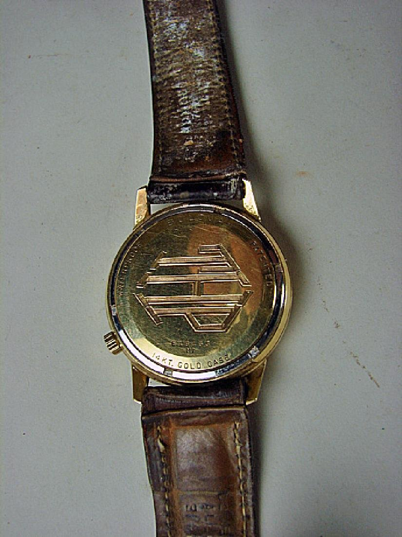 1960s 14K Gold Men's Bulova Accuttron Wristwatch - 3